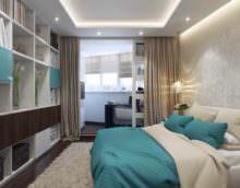 пример необычного проекта дизайна спальной комнаты картинка