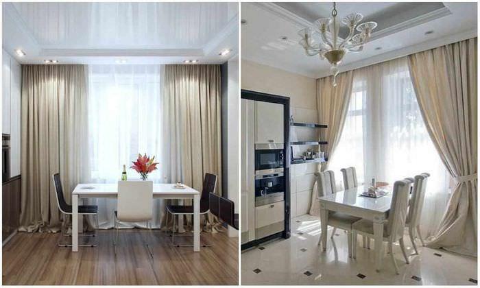 пример яркого интерьера окна на кухне