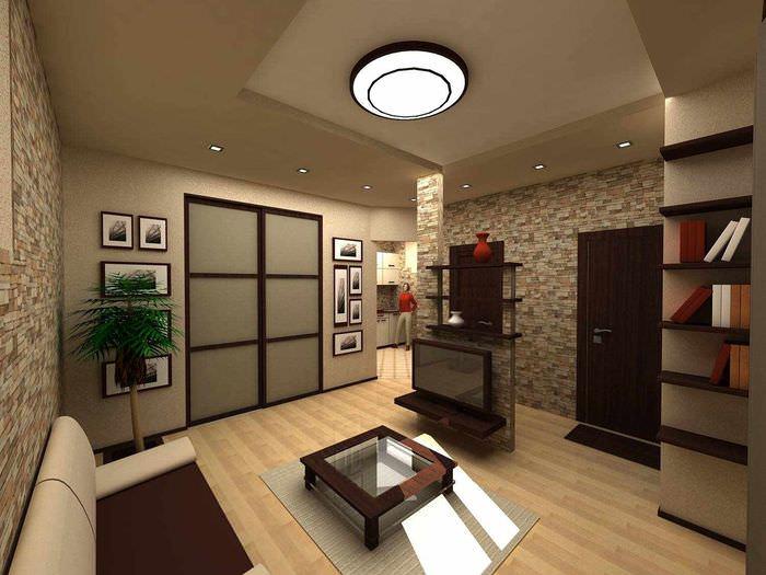 вариант светлого стиля гостиной