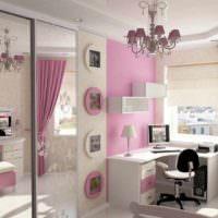 вариант яркого стиля детской комнаты для девочки картинка