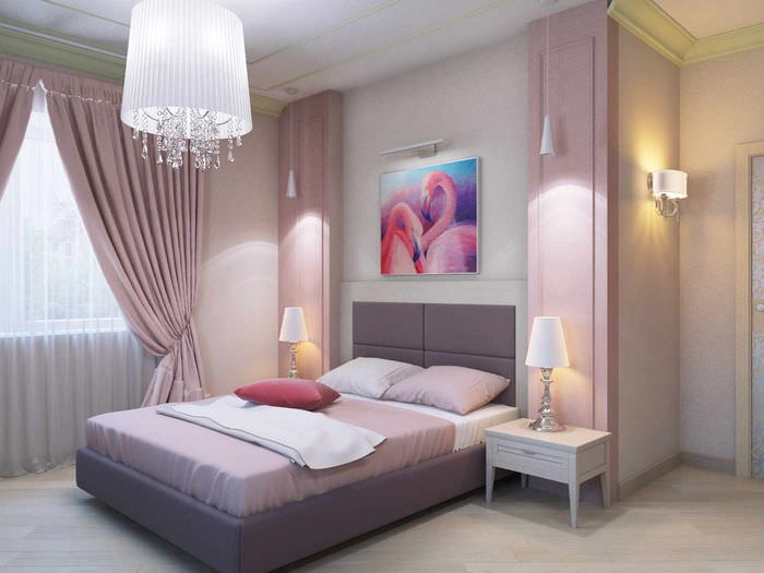 пример яркого интерьера спальни