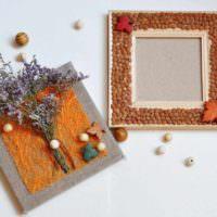 вариант необычной поделки для дизайна кухни фото