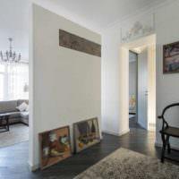 идея использования перегородки в декоре квартиры фото