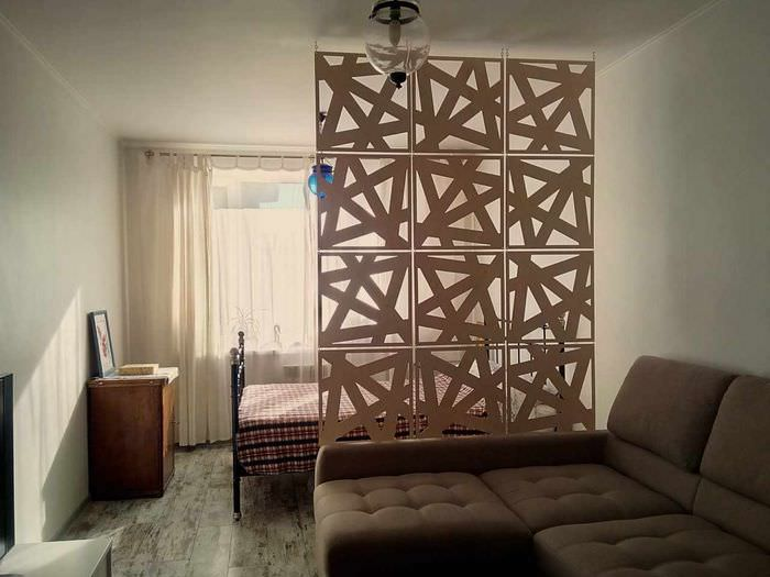 идея использования перегородки в дизайне дома