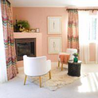 идея сочетания светлого персикового цвета в стиле квартиры картинка