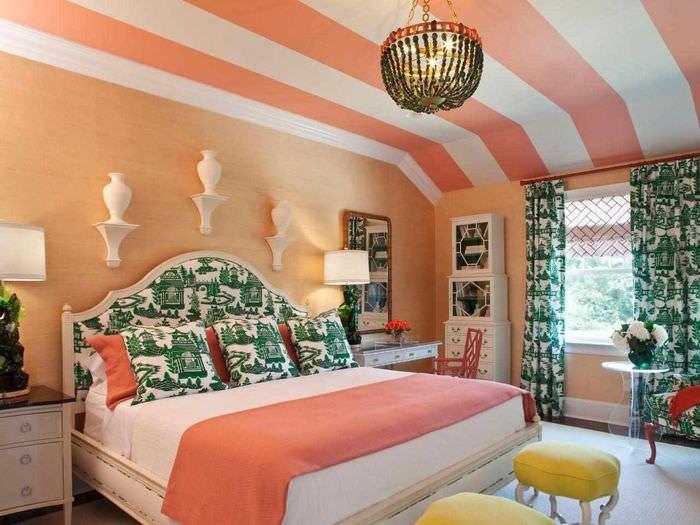 пример сочетания светлого персикового цвета в дизайне квартиры