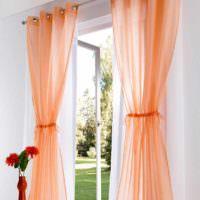 пример сочетания красивого персикового цвета в дизайне квартиры картинка