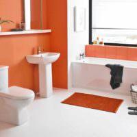 вариант сочетания светлого персикового цвета в декоре квартиры фото