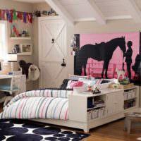 пример необычного интерьера детской комнаты для девочки фото