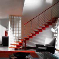 идея красивого стиля лестницы в честном доме фото