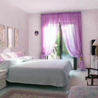 пример светлого интерьера спальни картинка