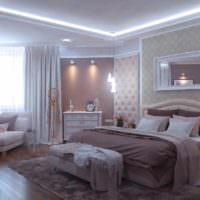 пример яркого интерьера спальни фото