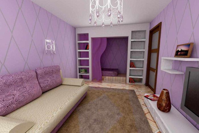 вариант красивого интерьера спальни