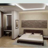 идея необычного украшения декора стен в спальне картинка