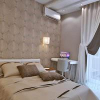 вариант красивого проекта стиля спальной комнаты картинка