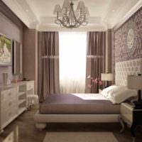 пример красивого проекта интерьера спальной комнаты фото