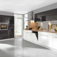 вариант яркого проекта дизайна кухни фото