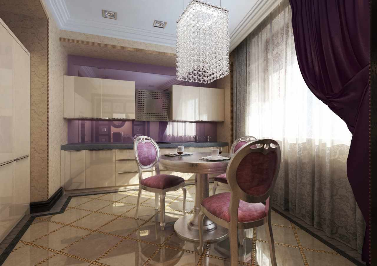 пример красивого проекта интерьера столовой