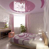 вариант необычного проекта дизайна спальни картинка