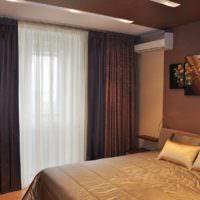 пример яркого проекта дизайна спальной комнаты картинка