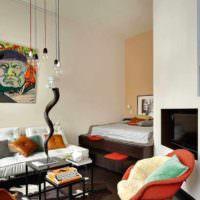 пример необычного стиля спальни 20 метров фото