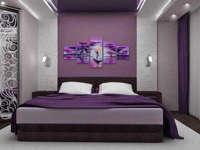 пример светлого дизайна спальной комнаты