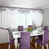 пример яркого дизайна окна на кухне картинка
