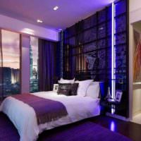 вариант красивого интерьера спальной комнаты картинка