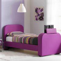пример необычного стиля спальной комнаты фото