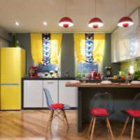 идея светлого интерьера квартиры в стиле поп арт картинка