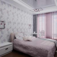 вариант красивого дизайна спальни картинка