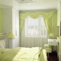 вариант светлого проекта дизайна спальни фото