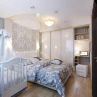 вариант красивого проекта интерьера спальни картинка