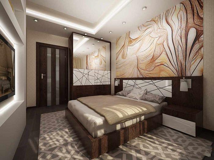 пример красивого проекта дизайна спальной комнаты