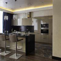 пример светлого проекта дизайна столовой фото