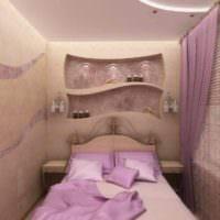 пример красивого интерьера спальной комнаты картинка