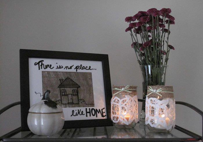 пример яркой поделки для декора квартиры