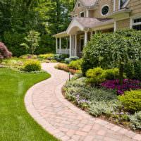 Садовая дорожка из клинкера