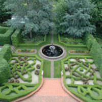 Вид сверху на английский сад