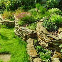 Подпорные стенки из плоского камня