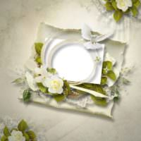 Подставочная тарелка на свадебном столе новобрачных