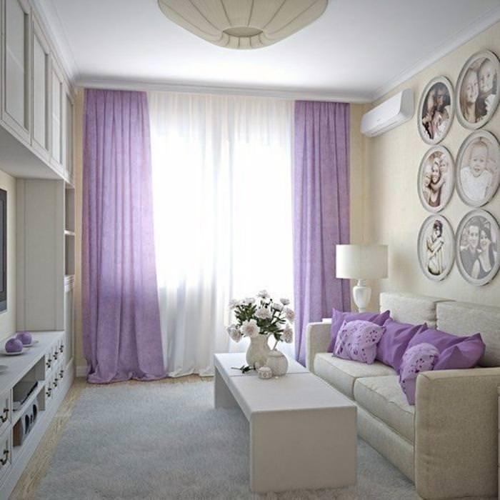 Сиреневые подушки
