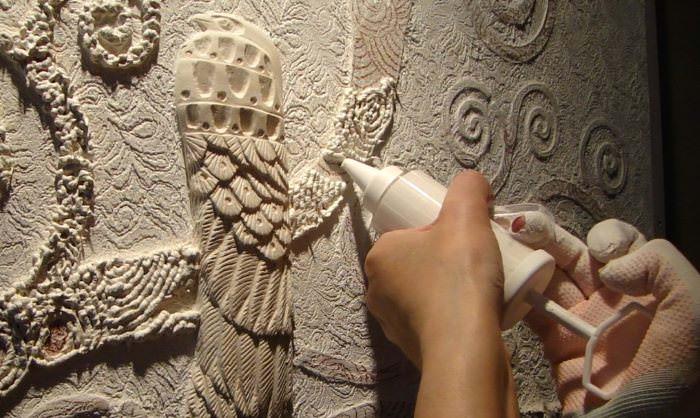 Изготовление панно из фактурной штукатурки своими руками
