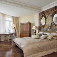 Фотообои и зеркала в дизайне спальни