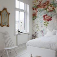 Французский стиль в спальне с фотообоями