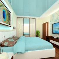 Светлая спальня и светодиодные фотообои