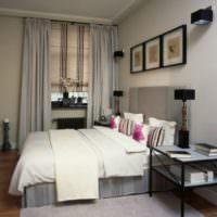 Картины и светильники в интерьере спальни 12 кв метров