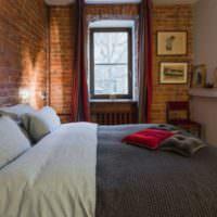Дизайн спальни 12 кв метров в стиле лофт