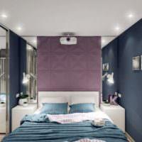 Точечные светильники на потолке спальни площадью 12 кв м