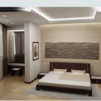 Дизайн совмещенной спальни в квартире0студии